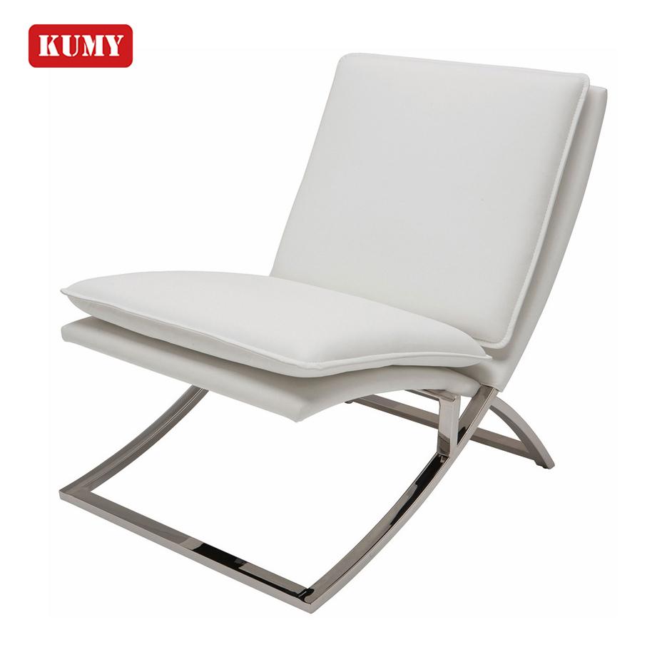 Concise Design Elegant Comfortable Leisure Single Indoor Sling Chair High Density Foam Steel Frame Recliner Living Room Sofa