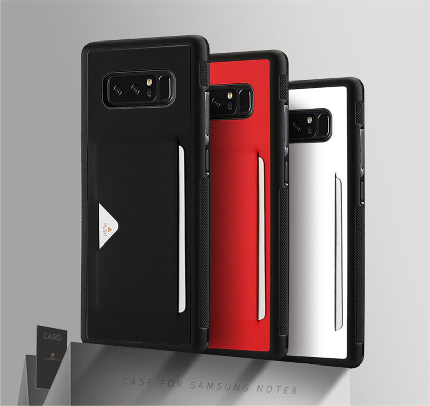 Alibaba PU leather Case Wallet Cover with Card Slot Back for Samsung Galaxy Note 8
