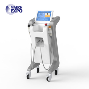 Radio frequency foot switch defined depths rf fractional micro needle  facial machine