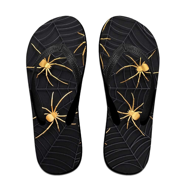 2c14ab19e Get Quotations · QR FUNK Unisex Spider Web Summer Comfortable Flip Flops  Beach Slippers