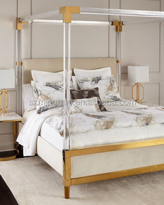 Golden Acrylic King Bed