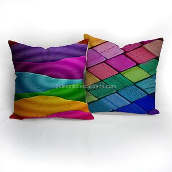 2017 Latest Design Cushion Cover Whole Handmade Digital Printed Linen Custom