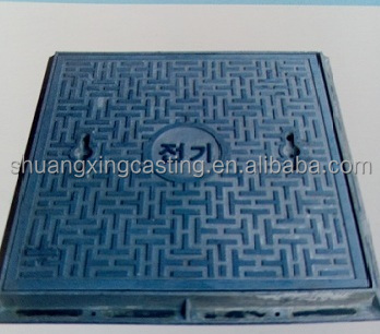 square durable ductile cast iron manhole cover and frames