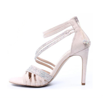 2015 Fashion Elegant Strappy Silver Sandals Womens Silver Sandals Silver Wedding Sandals Buy Silver Wedding Sandals Womens Silver Sandals Strappy