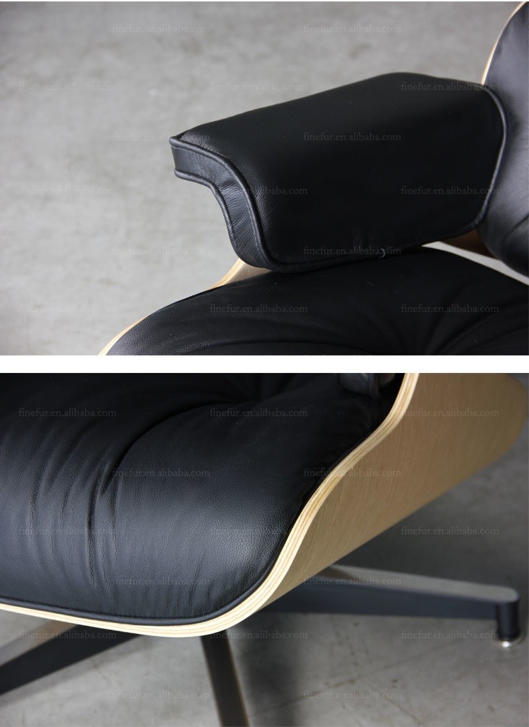 Genuine leather french antique chaise lounge chair for for Antique leather chaise
