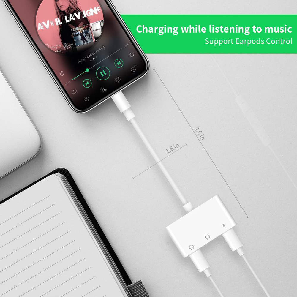 Perfect Sound Effect Headphone Converter For Iphone 7 Audio Adapter 3 In 1  Support Charge And Listen Simultaneously - Buy Audio Adapter 3 In