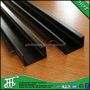 Brushed Bright Black Ashley Furniture Hardware Cabinet Aluminum Profile  Handles