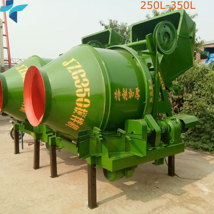 Building Tipping Bucket Mobile Drum Mechanical Concrete Mixer For Sale