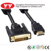 High speed 18+1 24+1 gold plated dvi to hd cable for Ethernet for 3D 1080p