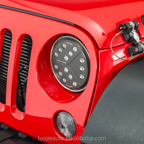"New Arrival Jeep Wrangler HeadLights LED 7"" For JK TJ YJ Wranlger"