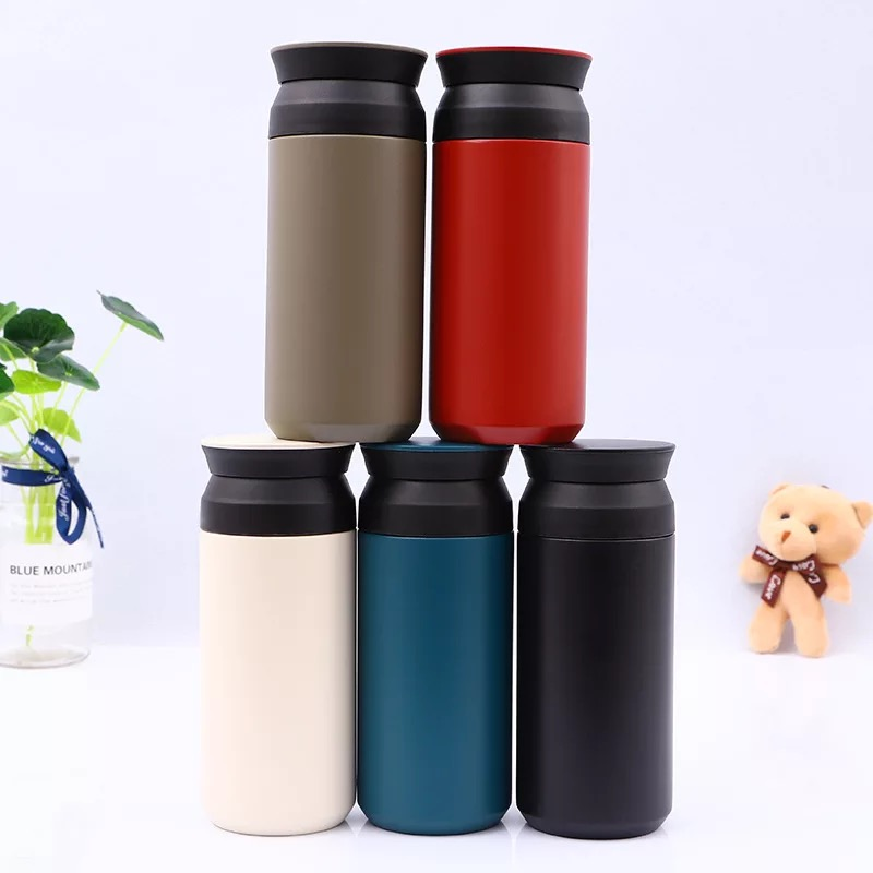 Alibaba.com / 350ml Matt Colour Thermos Insulation On The Go Metal Stainless Mug with Filter