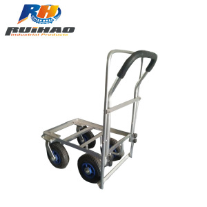 Four Wheels Solid Rubber Tires Garden Tool Cart wb4510al-2