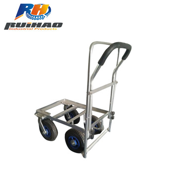 Lovely Four Wheels Solid Rubber Tires Garden Tool Cart Wb4510al 2