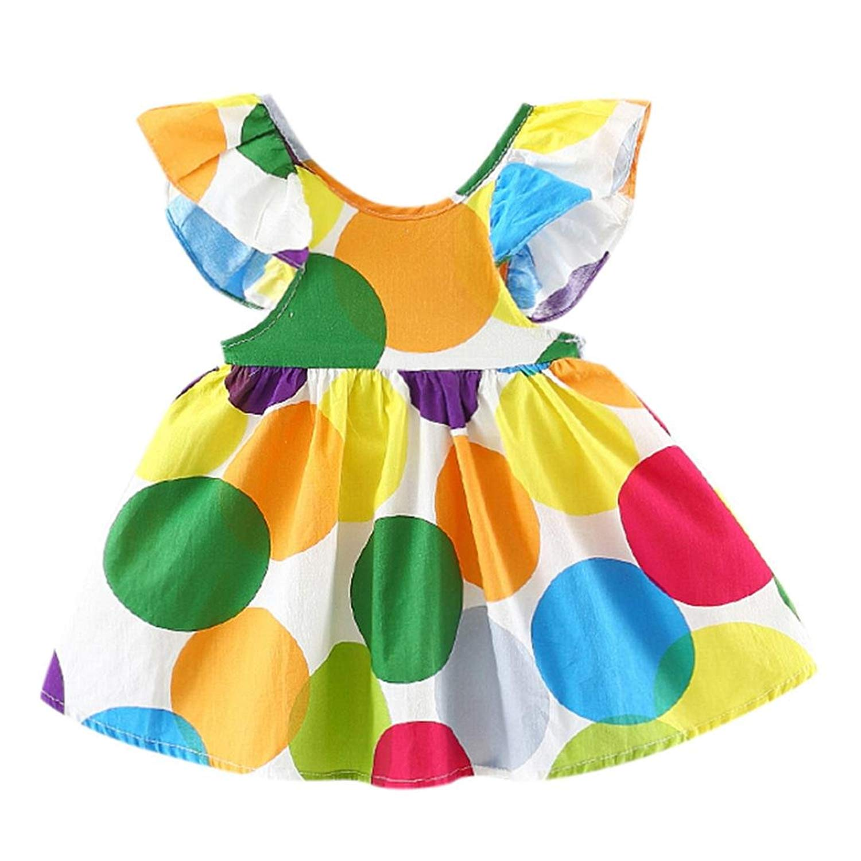 48009431e448 Get Quotations · Goodtrade8® Toddler Girl Flouncing Dresses Toddler Kids  Ruffle Sleeveless Princess Dress Sundress