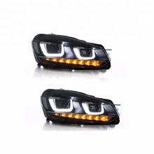 VLAND al por mayor secuencial de la cabeza de la lámpara 2008-2013-<span class=keywords><strong>led</strong></span> faro para vw golf 6 golf mk6