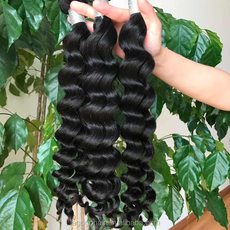 Virgin cuticle aligned hair mink brazilian hair products,8a grade virgin brazilian hair bundles,remy hair extension Exotic wave, Natural color