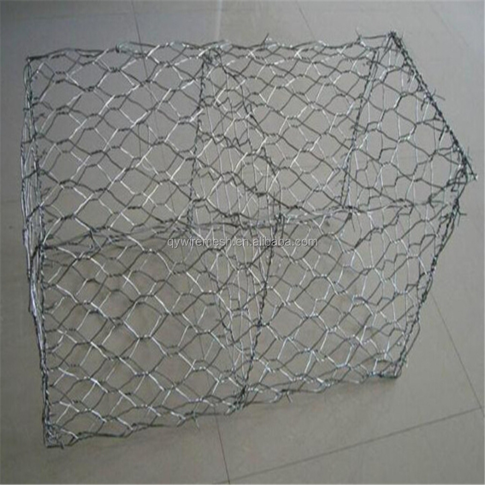 Alibaba hot sale gabion baskets stone cage wire mesh manufacturer/gabion box prices