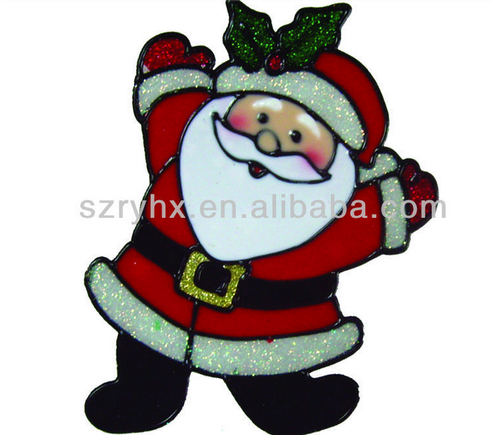 Good quality cheap waterproof used commercial christmas <strong>decorations</strong>, pvc christmas sticker