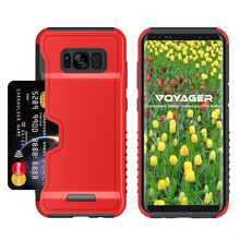S8 Mobile phone case with credit bank card slot holder combo PC TPU cover