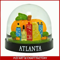 Atlanta Building Snow Globe /atlanta Cartoon Snow Globe/plastic ...