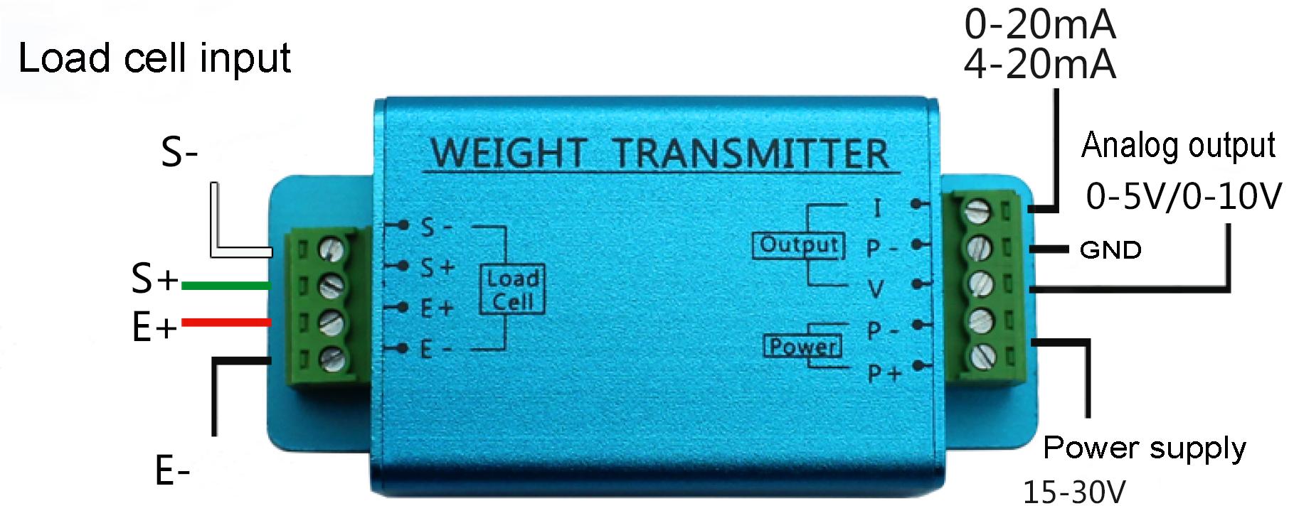 Strain Gauge Sensor Amplifier 0-10v