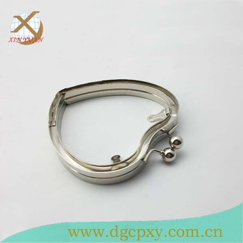 Heart Shaped Fashionable Metal Box Clutch Frame For Handbag Jewelry ...