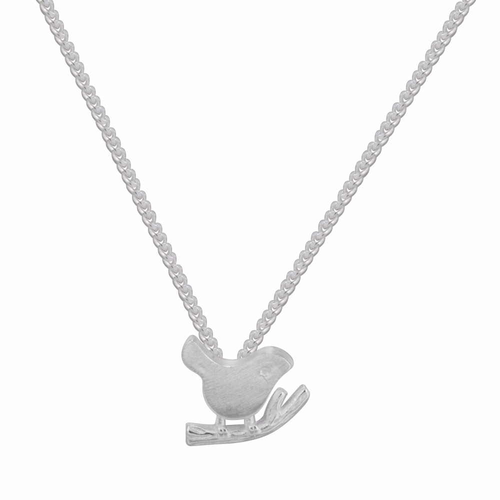 925 Sterling Silver Lovely Birds Necklace For Women Elegant Lovely Matt Bird Pendant Necklace Wedding Jewelry Accessories