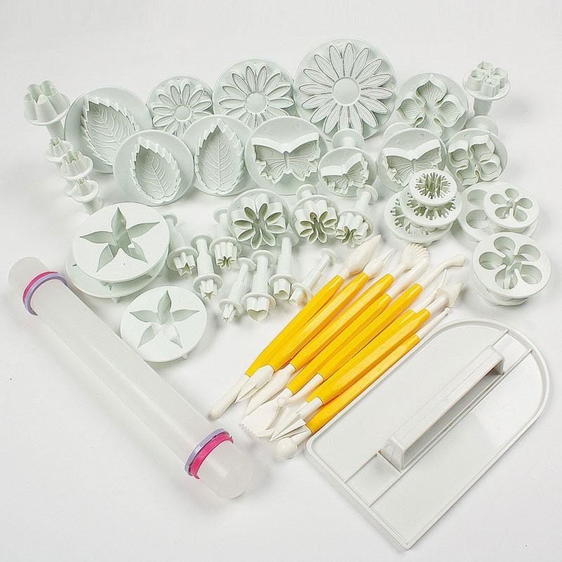46pcs/lot Cookie Cutter Set Cake/Cookie Decorating Sugarcraft Cutters & Plungers Cutter Tool