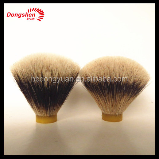 High quality fan shape Silvertip&High mountain badger hair shaving brush knot