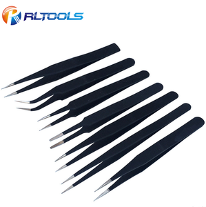 7PC stainless steel eyebrow tweezers