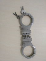 Police double lock stainless steel handcuff