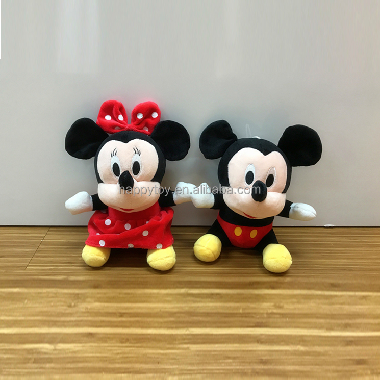 Farcito personalizzati peluche cartoon movie character peluche di mickey mouse e minnie peluche all'ingrosso per macchine gru