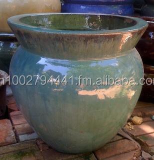 [wholesale] Outdoor Glazed Ceramic Pots - Glazed Planters - Garden Pottery  Pots - Vietnam Pottery Manufacturer - Buy Plastic Plant Pots Plastic Pots