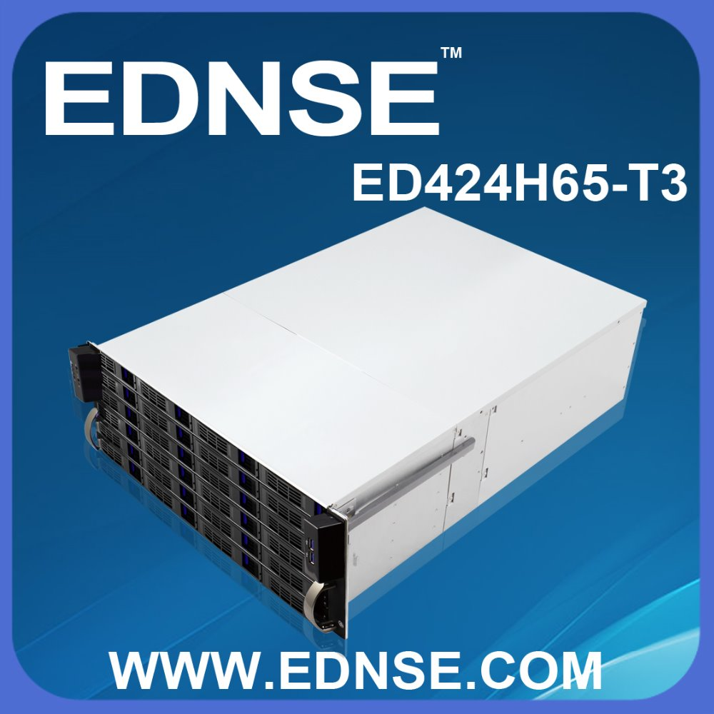 NEW DESIGN ED424H65-T3 EDNSE 4U nas storage server case with lock