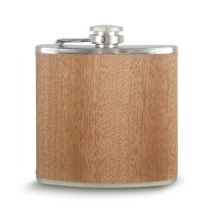 Wholesale custom engrave wood stainless steel hip flask,wooden wine bottle