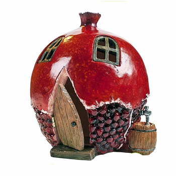 JHB Pomegranate Shape Fairy House for Garden Decor