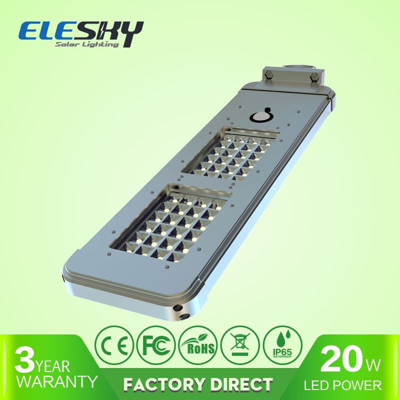 all one 3.7v solar 20w led light,solar street light 20W in guangzhou China