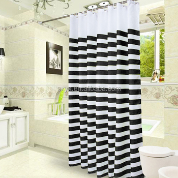 Nautical Stripes Mildew Free Water Repellent Fabric Shower CurtainPolyester Printing Bathroom Curtain 72x72quot