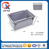 Stackable and Nestable heavy duty Plastic fish crate with handlle for fruits and vegetables moving 622*422*152 mm