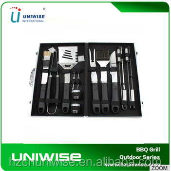 wholesale bbq grill Tools 9pcs Stainless Steel Bbq Set