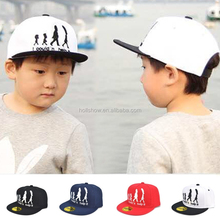Best Selling Fashion Personalized Cute Person Walking Style Plain Twill Children Kids Sun Hat