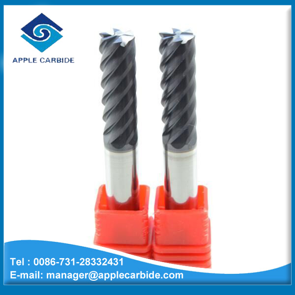 6 Flute Flattened Solid Carbide Long Cutting Edge Milling Tool /6 Flute Solid Carbide End Milling Cutter