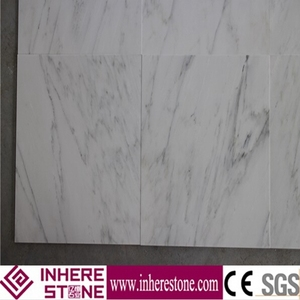 Best quality white striped carrara marble slab stone