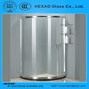 Low Price 1/4 CIRCLE Clear Toughed Glass SHOWER ROOM with Hardware Accessories