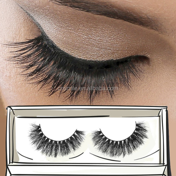 Private label mink eyelash extension make your own makeup 3D false eyelash