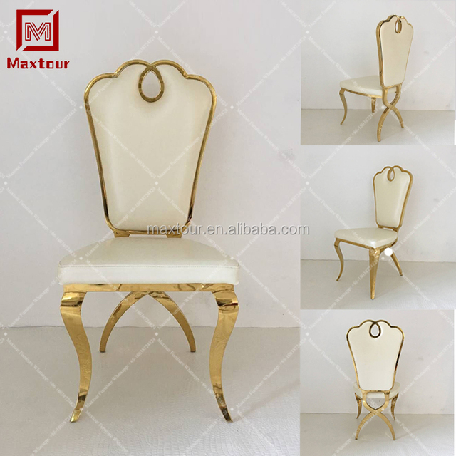 Designer Cheap Stainless Steel Banquet Ghost Tiffany King Throne Party  Wedding Event Golden Dining Chair