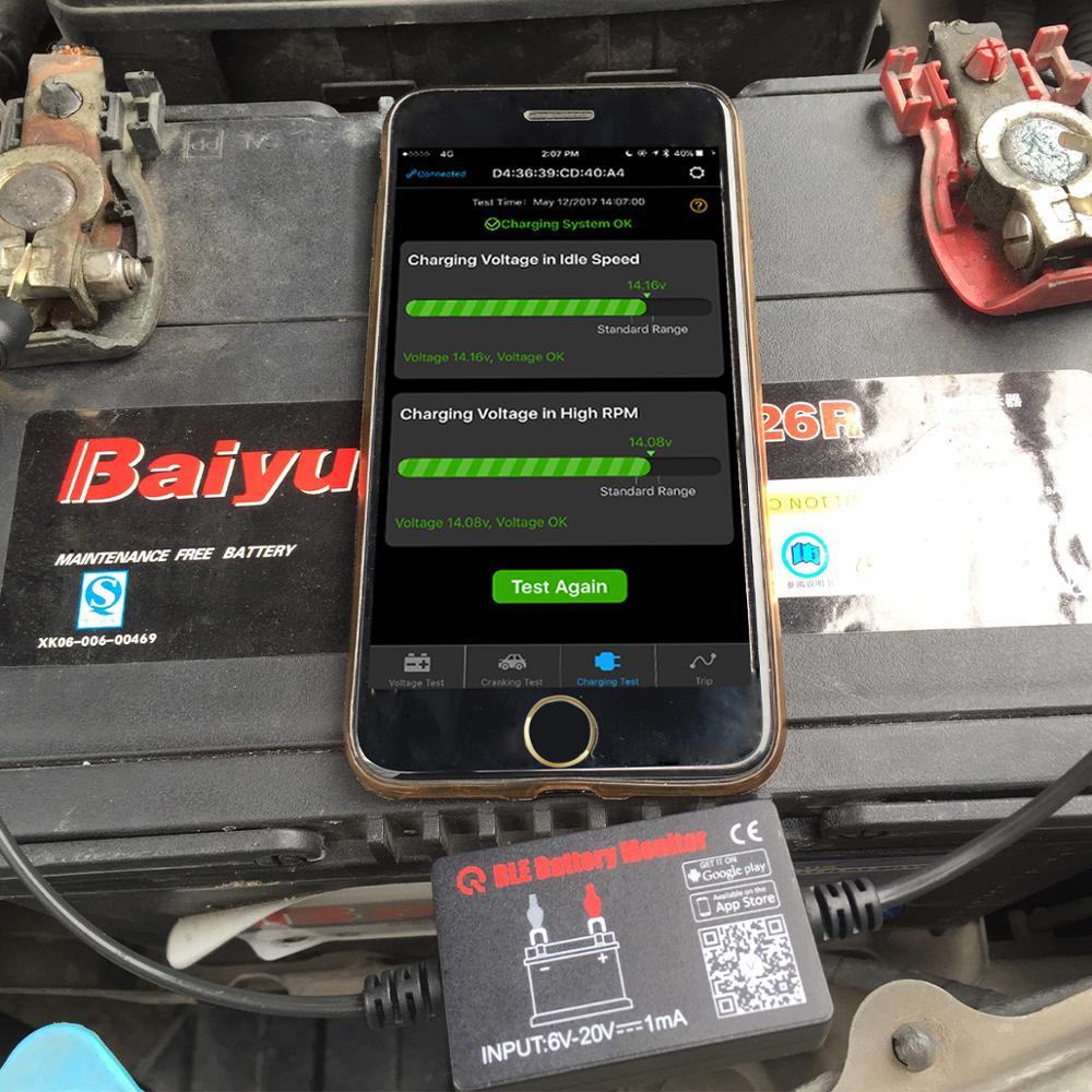 Bluetooth 4 0 Wireless Battery Tester 12v Automotive Battery Load Tester  Diagnost Analyzer Monitor For Android & Ios - Buy Diagnost Analyzer Battery