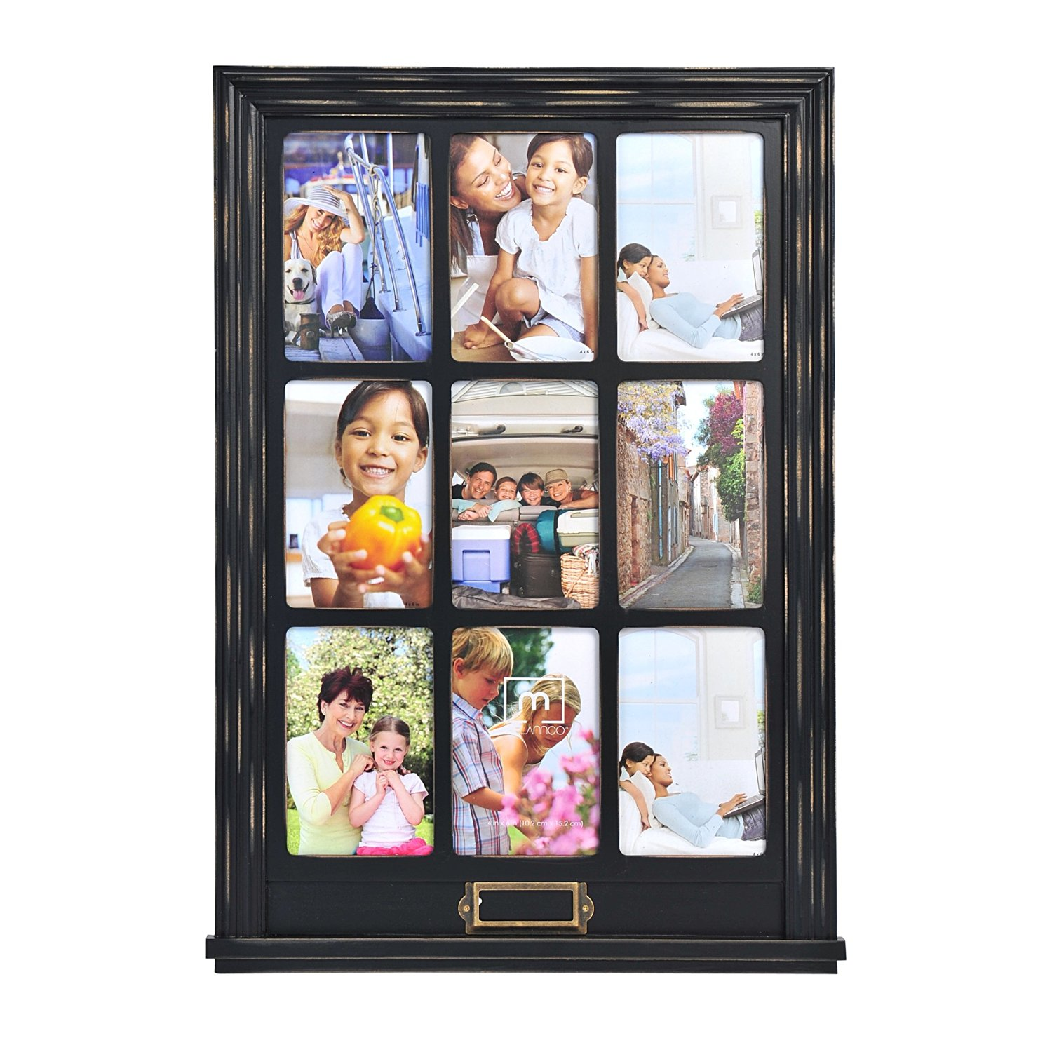 Cheap distressed collage frames find distressed collage frames get quotations melannco 9 opening window collage distressed black jeuxipadfo Choice Image