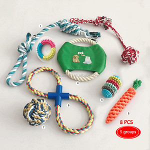 New cotton rope pet dog tosy /knot rope dog chew toy /rope ball dog toy