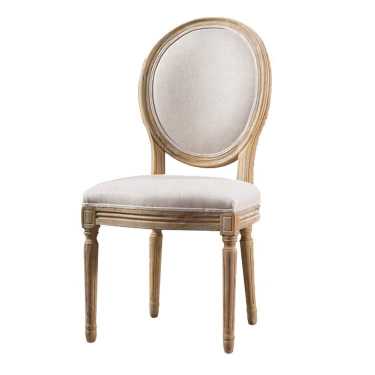 Mobiliário antigo Francês Mesa De Jantar Em Madeira E Tecido Cadeira Louis